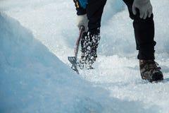 Hachage de la glace Photo libre de droits