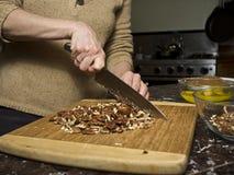 Hachage des noix de pécan Photographie stock libre de droits