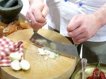 Hachage des oignons 2 Photographie stock libre de droits