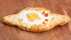Hachapuri by Adzharia (Georgian cheese pastry Stock Photo