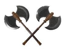 Hachas duales de la batalla Imagen de archivo libre de regalías