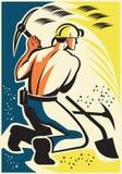 Hache de Mining Digging Pick du mineur rétro Images stock