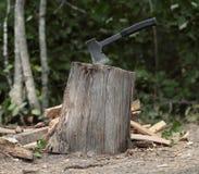 Hache pour le bois de chauffage Photos libres de droits