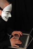 Hacher con il calcolatore Immagine Stock Libera da Diritti