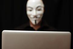 Hacher med datoren Royaltyfri Bild