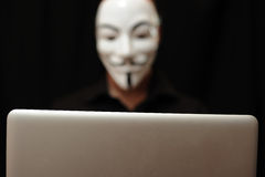 Hacher mit Computer Lizenzfreies Stockbild