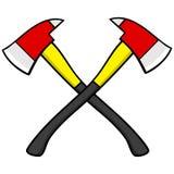 Haches de sapeur-pompier illustration stock