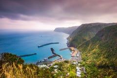 Hachijojima wyspy Japonia wybrzeże zdjęcia stock