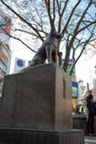 Hachiko纪念雕象在涩谷,东京 免版税图库摄影