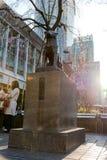 Hachiko纪念雕象在涩谷,东京 库存照片
