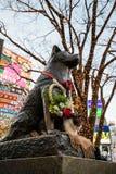 Hachiko雕象在涩谷东京 免版税库存图片