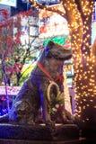 Hachiko雕象在涩谷东京 库存照片