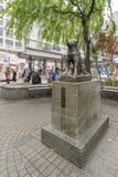 Hachiko雕象在涩谷驻地,东京,日本的 免版税库存图片