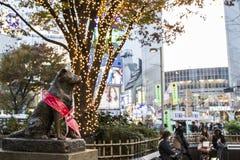 Hachiko雕象 Hachiko 免版税库存图片