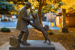 Hachiko avec le Dr. Statue de Hidesaburo Ueno à l'université de Tokyo Photos libres de droits