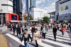 Hachiko Crossing Royalty Free Stock Photos