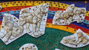 Hachiko low relief sculpture at Shibuya station in Tokyo Royalty Free Stock Photography