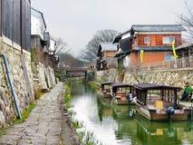 Hachiman-bori, Omi-Hachiman, Japan Lizenzfreie Stockbilder
