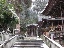 Hachiman Shrine In Snow Stock Photos