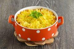 Hachis parmentier, cuisine anglaise image stock
