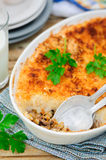 Hachis Parmentier, French Version of Shepherd's Pie Stock Photo