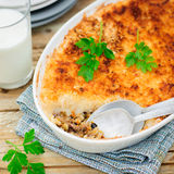 Hachis Parmentier, French Version of Shepherd's Pie stock image