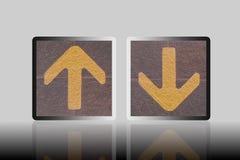 Hacia arriba y hacia abajo la flecha Fotografía de archivo libre de regalías