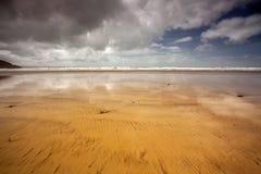 ¡Hacia el oeste Ho! escena de la playa Imagen de archivo libre de regalías
