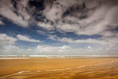 ¡Hacia el oeste Ho! escena de la playa Imagen de archivo