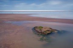 ¡Hacia el oeste Ho! escena de la playa Foto de archivo libre de regalías