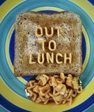 Hacia fuera al almuerzo Fotos de archivo