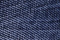 Hacia fuera descolorada textura azul de la mezclilla del dril de algodón Fotografía de archivo libre de regalías