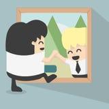 Hacia fuera el marco para encontrar a nuevos amigos Imagen de archivo libre de regalías
