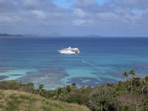 Hacia fuera en el mar en naves Fotos de archivo libres de regalías