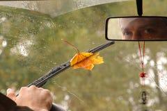 Hacia fuera ventana de coche Fotos de archivo libres de regalías