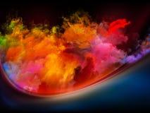 Hacia los colores de Digitaces ilustración del vector