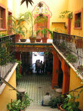 Hacienda. This is a picture of the interior of a Mexican building Stock Photography