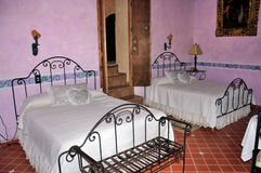 Hacienda bedroom Stock Image