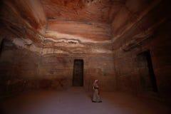 Hacienda dentro de Petra, Jordania Imagenes de archivo