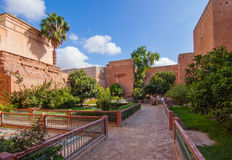 Hacienda en la Marrakesh Medina Fotos de archivo