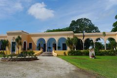 Hacienda finca rancho Mexico Merida farm colonial Holiday spa yucatan Royalty Free Stock Photo