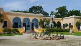 Hacienda finca rancho Mexico Merida farm colonial Holiday spa yucatan Stock Photo