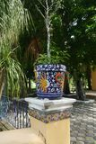 Hacienda finca rancho Mexico Merida farm colonial Holiday spa yucatan Royalty Free Stock Photos