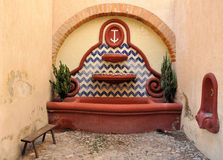 Hacienda Fountain Stock Photo