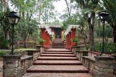 Hacienda Garden Guanajuato Stock Photo