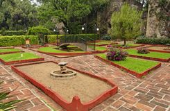 Hacienda Garden Guanajuato Stock Images