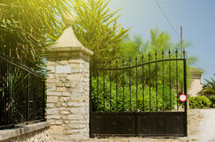 Hacienda gate entrance on a sunny day Stock Images