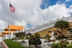 Avalokitesvara garden at Hsi Lai Buddhist Temple, California. stock image