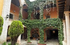 Hacienda Inner Garden Guanajuato Stock Images
