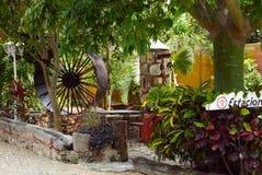 Hacienda Mexico Restaurant architecture garden Stock Images
